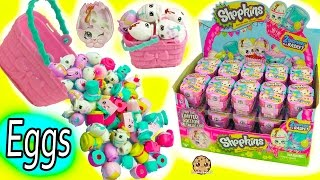 Full Box Shopkins Season 7 Easter Egg Hunt Surprise Mystery Blind Bag Baskets