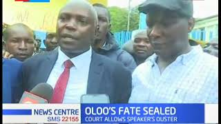 Members of County Assembly in Kisumu  react to Oloo's fate