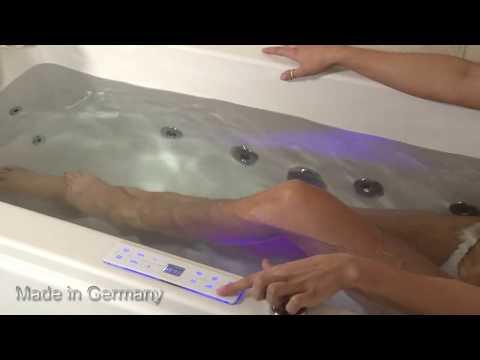 Whirlpool Badewanne Relax Basic Eckwanne mit 16 Massage Düsen 7 Größen Spa günstig
