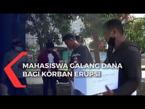 mahasiswa galang dana bagi korban erupsi gunung ile ape