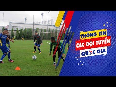 Buổi tập đầu tiên của U.19 Việt Nam trước cúp Tứ Hùng 2018 tại Qatar