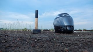 краш-тест дешевого китайского шлема/crash test cheap Chinese helmet for 50 dollars