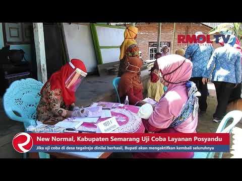 New Normal, Kabupaten Semarang Uji Coba Layanan Posyandu