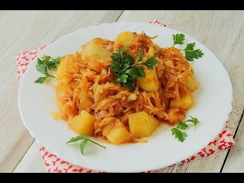 Тушеная капуста с картошкой: как приготовить тушеную капусту