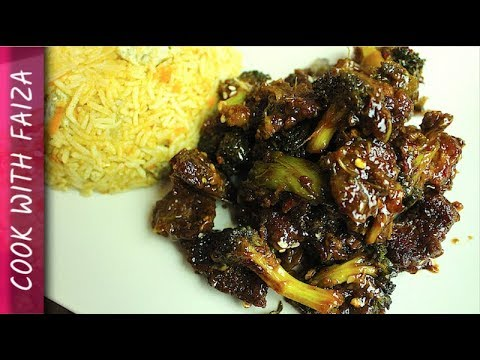 MONGOLIAN BEEF (Chinese) RECIPE *COOK WITH FAIZA*