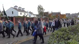 preview picture of video 'Remembrance Sunday Parade Buckley 2014'