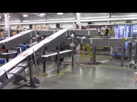 Inline Bag Merging Conveyor sold by Dillin Automation Systems