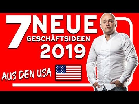 , title : '7 EXTREM profitable NEUE Geschäftsideen 2019 (Krasse Nischen aus den USA 🇺🇸)'