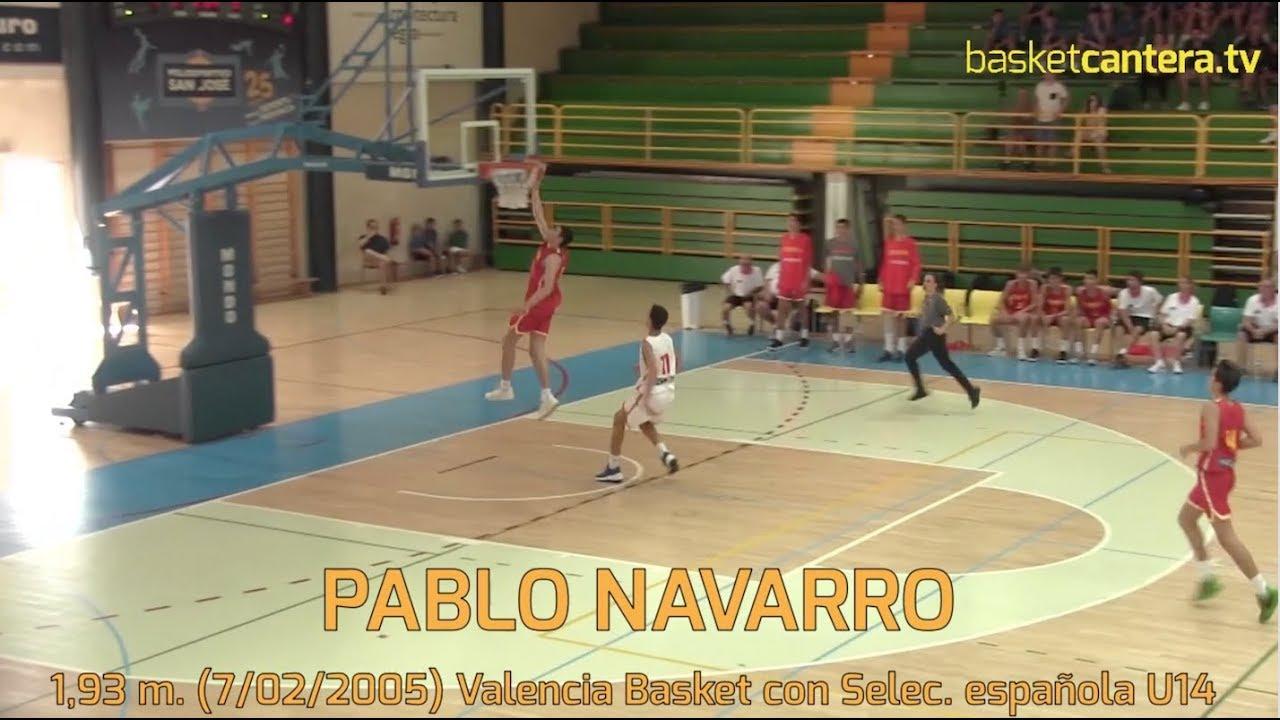 PABLO NAVARRO (´05) 1,93 m. (Valencia Basket) con Sel. Española Torneo BAM-U14 (BasketCantera.TV)
