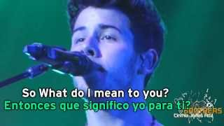 What Do I Mean Jonas Brothers Lyrics/Subtitulada