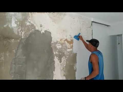 Textura em parede danificada