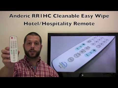 ANDERIC RR1HC Easy Wipe Remote Control 1-Device Universal Remote Control