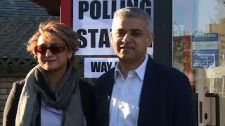 London mayoral election: Labour candidate Sadiq Khan votes