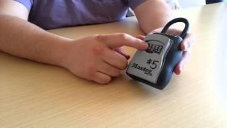 How to use Master lock box