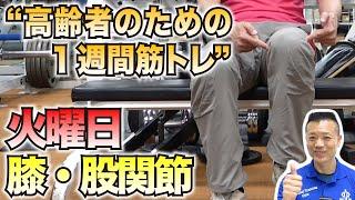 【新型コロナウイルス】火曜日はこれだ!膝と股関節のトレーニング!高齢者のための1週間筋トレ!