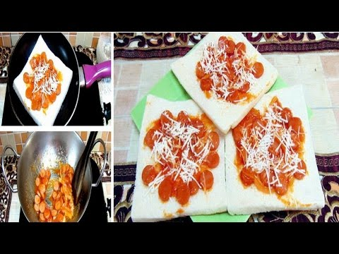 Video Pizza Roti Tawar Simpel Panggang Teflon-Cara Membuat & Resep