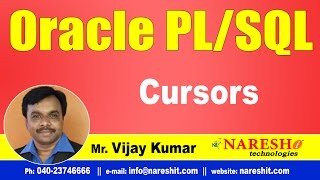 Cursors in PL/SQL | Oracle PL/SQL Tutorial Videos | Mr.Vijay Kumar