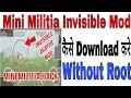 How to download mini militia invisible mod(Hindi)