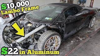 Rebuilding $10,000+ of Lamborghini Frame Damage Using $22 in Aluminum Bar & Harbor Freight Tools