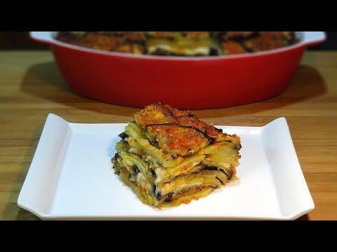 Receta Pastel de berenjenas, patatas y queso, súper fácil y delicioso. Loli Domínguez