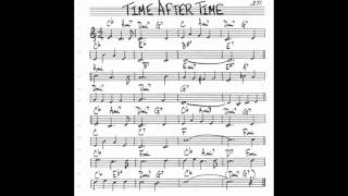 Time After Time  Play along - Backing track (C  key score violin/guitar/piano)