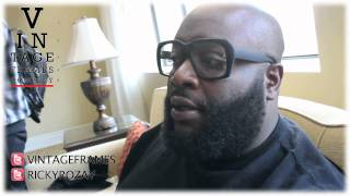 Rick Ross Reveals Samples Of His Sunglasses Line With Corey Shapiro @vintageframes