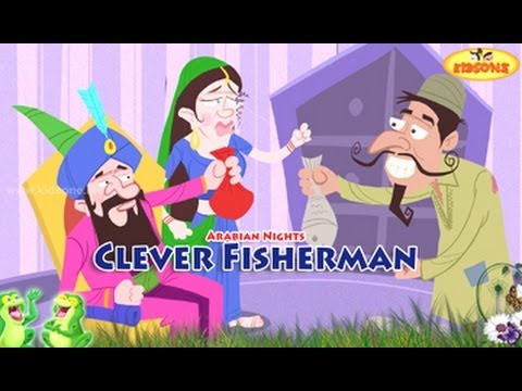 The Clever Fisherman || Arabian Nights Stories || Animated Moral Stories in English