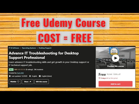 Free Udemy Course | Advance IT Troubleshooting for Desktop ...