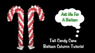 Candy Cane Balloon Decoration Tutorial