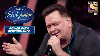 """Mai Shayar Toh Nahin"" पर Rishi Kapoor की Singing! | Indian Idol Junior | Power Packed Performance"