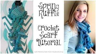 Ruffle Scarf Crochet Tutorial: Advanced Beginner