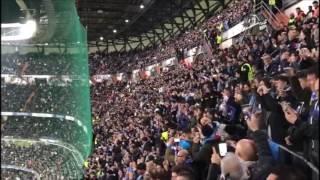 Real Madrid - Napoli: l'urlo The Champions dei 5000 partenopei al Bernabeu