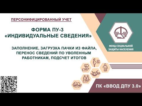 Заполнение формы ПУ-3 за 2019 год.