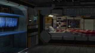 Spaceship Bedroom Ambience – Sleeping Quarter Stargazer (White Noise, ASMR, Relaxation)