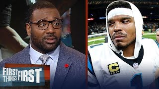 Chris Canty reacts to Kelvin Benjamin's critical comments on Cam Newton   NFL   FIRST THINGS FIRST
