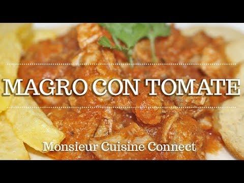 MAGRO CON TOMATE en Monsieur Cuisine Connect   Ingredientes entre dientes