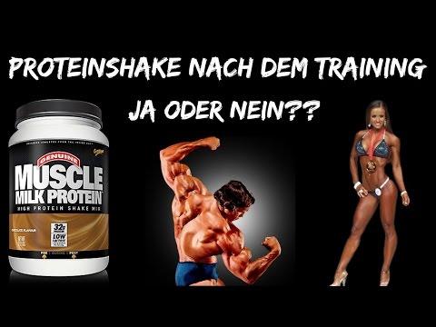 Proteinshake vor oder nach dem Training❓❓🤔