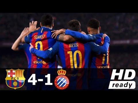 Download Barcelona Vs Espanyol 4-1 Full Highlights & Goals HD | 18 Dec 2016 HD Mp4 3GP Video and MP3