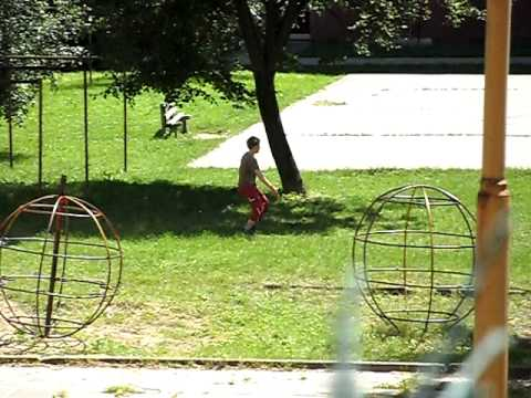 Boys playing soccer recorded with Samsung PL60