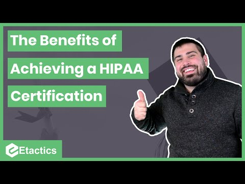 The Benefits of Achieving a HIPAA Certification - YouTube