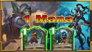 Hearthstone: 1 Mana Hunter Cards Are Too Powerful! I Love to SMOrc!