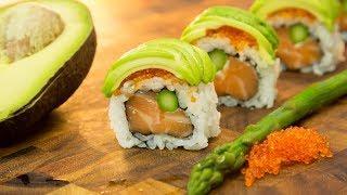 Flying Tiger Sushi Roll – Salmon Avocado Roll