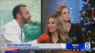 Cosmetic Surgeon Demonstrates Non-Surgical Nose Job