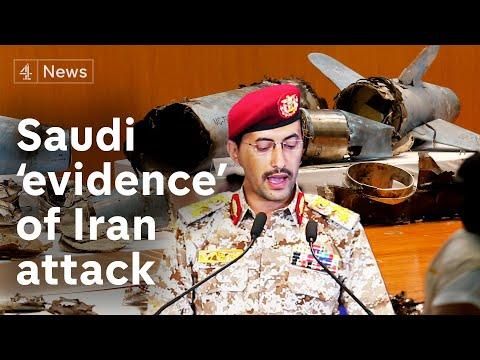 Saudis reveal 'evidence' Iran behind oil attacks