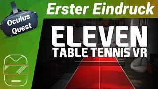 Oculus Quest [deutsch] Eleven Table Tennis VR | Oculus Quest Spiele [deutsch] | Tischtennis VR