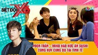 Miko Lan Trinh cùng trai đẹp Yoon Trần háo hức ăn sushi đọ tài tinh tế cùng Huy Cung 😍