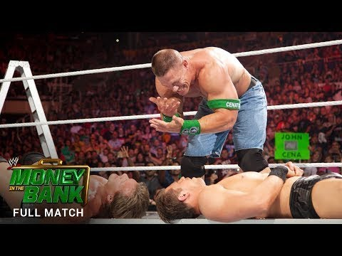 WWE 17/6/2017 Money in the Bank Ladder Match John Rena vs Crowd