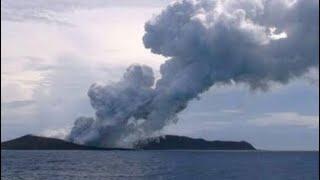 Volcanic Eruption Creates New Island In Tongan Archipelago