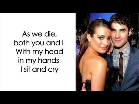 Glee - Don't Speak (Lyrics)
