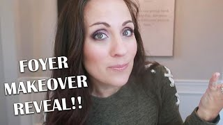 Foyer Makeover On Any Budget // How To Decorate Your Foyer & Budget Friendly Decorating Tips